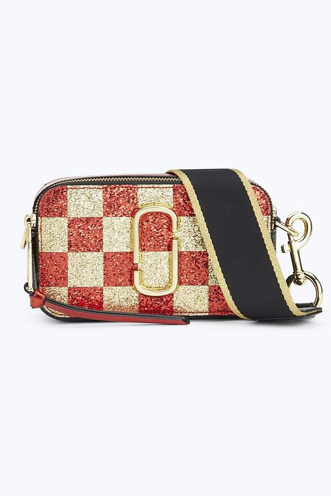 ca2c8fa2e0c2 Marc Jacobs Checkerboard Snapshot Small Camera Bag in Gold Multi ...