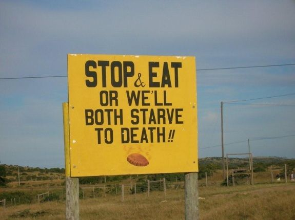 Funny Road Signs in South Africa       Behra    East London