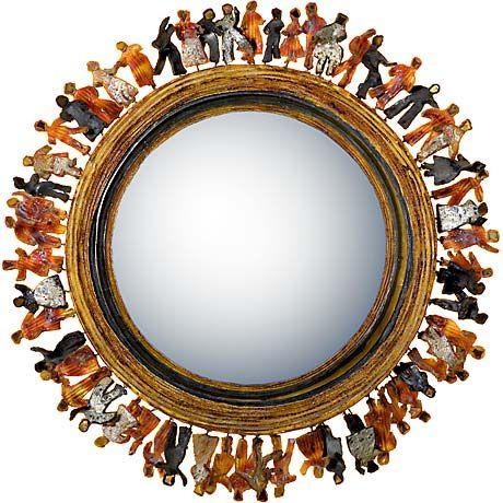 'Si tous les gars du monde...' - Miroir sorcière en Talosel de Line Vautrin