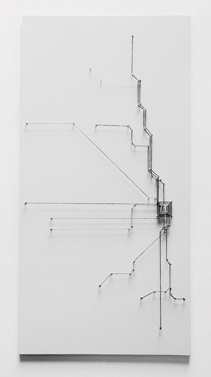 Jenn Kangas | string art | Chicago transit map.  - I like this idea, I could do something like this