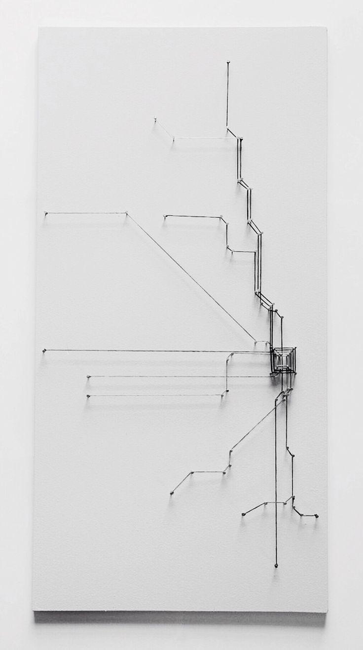 Jenn Kangas | string art | Chicago transit map.  - I like this idea, I could do something like this