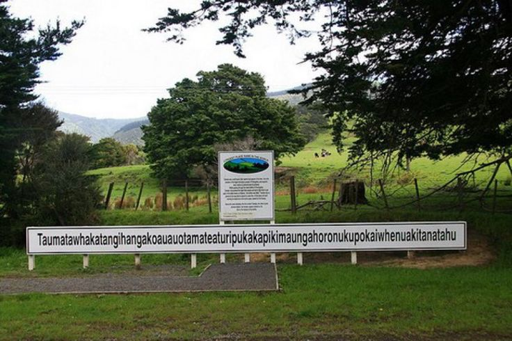 "The longest place name in any English-speaking country is Maori name for a hill in Hawke's Bay which has 85 characters. It is, Taumatawhakatangihangaoauauotameteaturipukakapikimaungahoronukupokaiwhenuakitanatahu, which translate, ""the place where Tamatea, the man with the big knees, who slid, climbed and swallowed mountains, known as the land-eater, played his nose flute to his loved ones""."