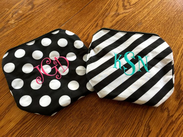 Monogrammed Cosmetic Bag - Monogrammed Makeup Bag - Personalized Makeup Bag - Bridesmaid Gift - Birthday Gift by MJMonograms on Etsy