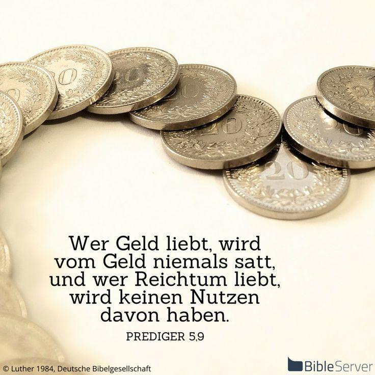 Nachzulesen auf BibleServer   Prediger 5,9