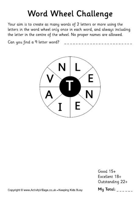 how many words can you make from this word wheel challenge can you find the 9 letter word these puzzles are a great time filler and this one is linked to