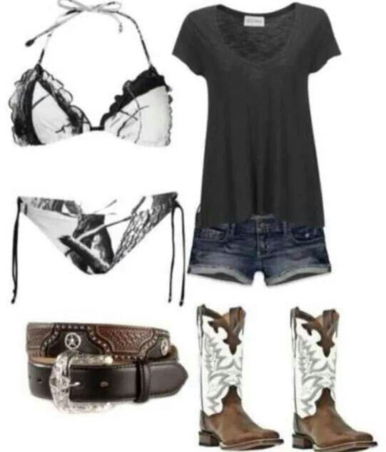 I like the camo bathing suit but definitely won't be wearing that anytime soon. Love the boots too!!!