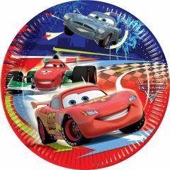 cars arabalı doğum günü kağıt tabak