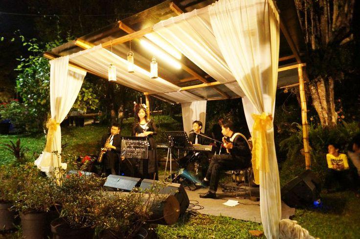 The wedding band  @ Rumah Kebon Cengkeh Bandung, Indonesia