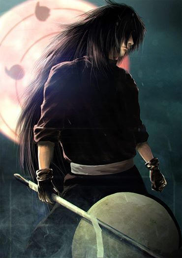 Uchiha Madara, one of my favourite anime characters in Naruto. I just wish the composers would give him an awesome theme song like they did with Nagato (Pein). This is one of the most badass pics of Uchiha Madara! Love this pic!