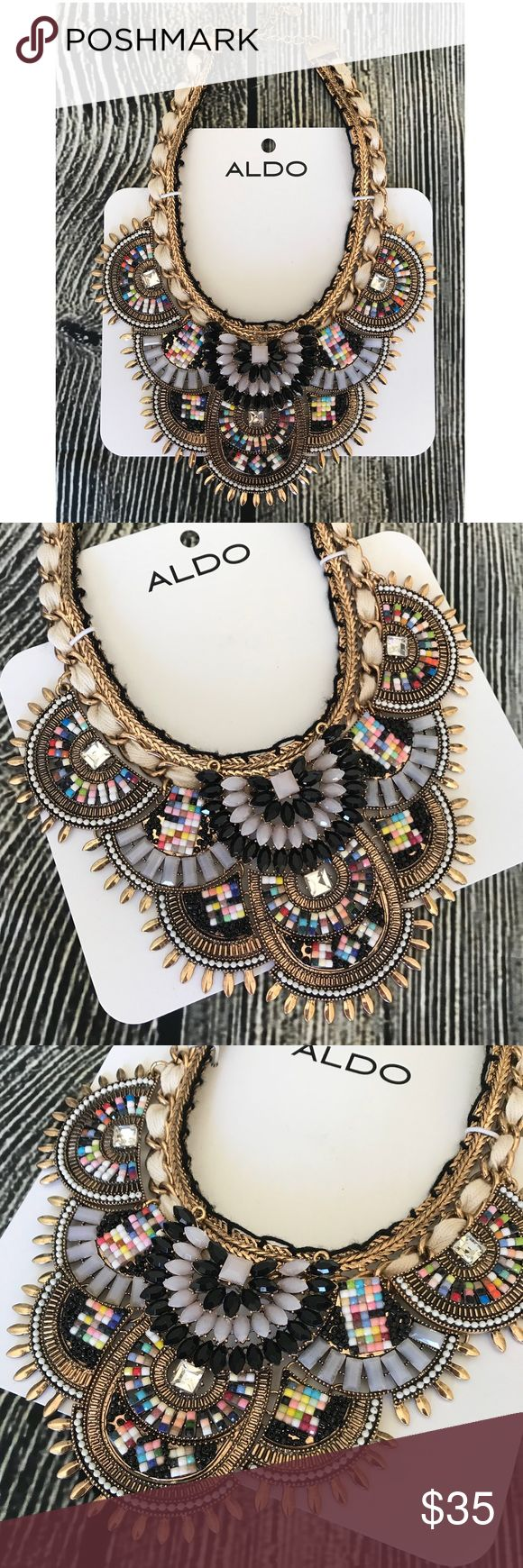 Aldo Statement Necklace Beautiful Statement Necklace. Aldo. New with Tags. Width 7.5 inches. Aldo Jewelry Necklaces