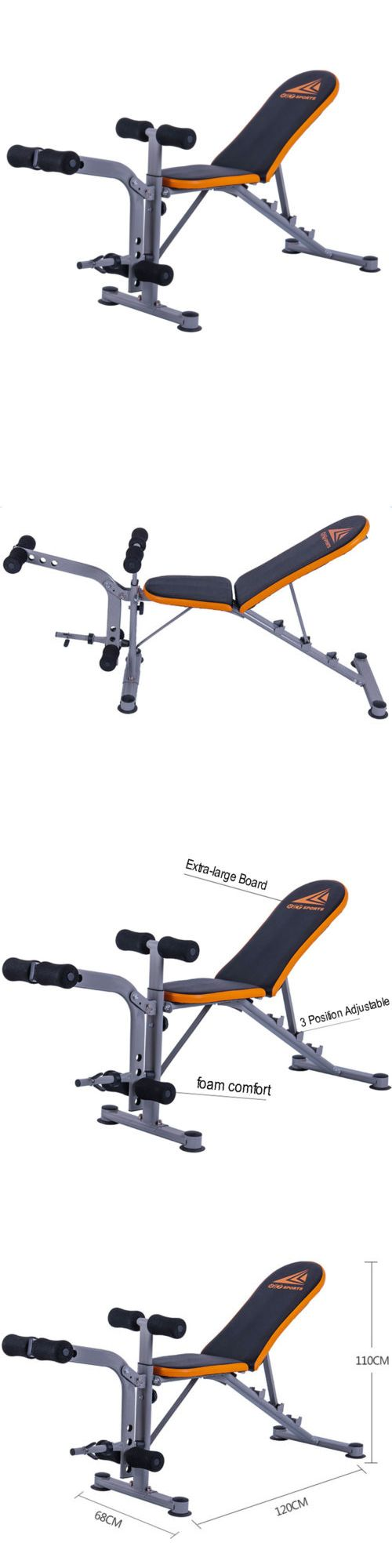 Bench Press Abs Part - 43: Benches 15281: Adjustable Weight Bench Dumbbells Lifting Incline Flat  Decline Press Abs Workout -u003e