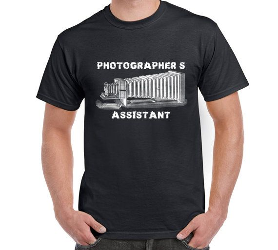 Photographer's Assistant T Shirt, Camera, Digital Camera, Photography, Technology, Art, Pure Cotton, Eco-friendly inks, T Shirt Sizes S-XL