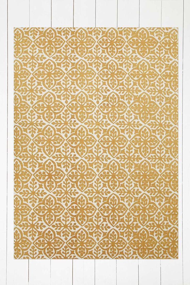 Zarina Floral Tile 5x7 Gold Rug