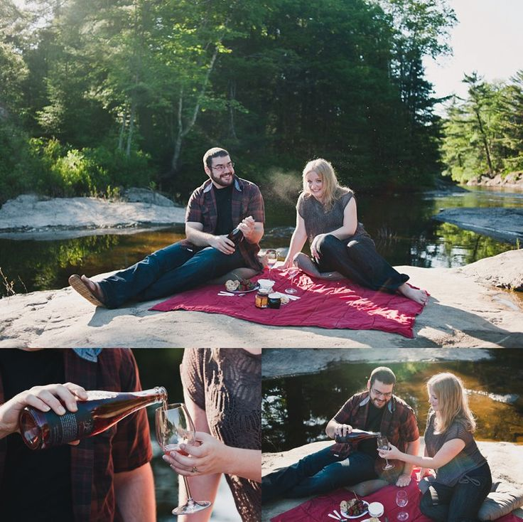 champagne + picnic engagement session | Tara Lilly Photography
