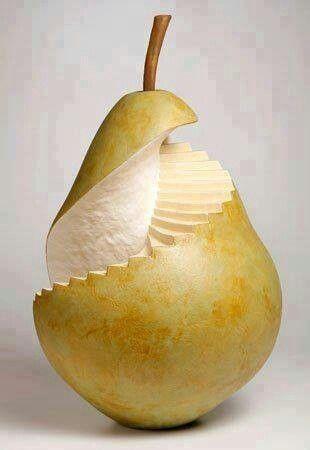 Staircase pear. #funwithfood #highlevelknifeskills