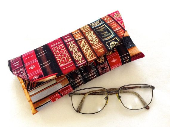 Spectacle Case Handmade Fabric Eye Glasses by ArabellaBlossoms, $30.00