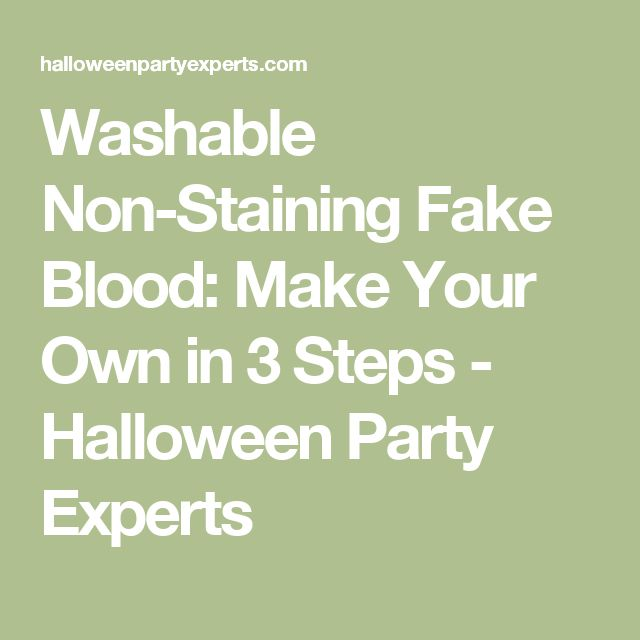 how to make fake blood fast