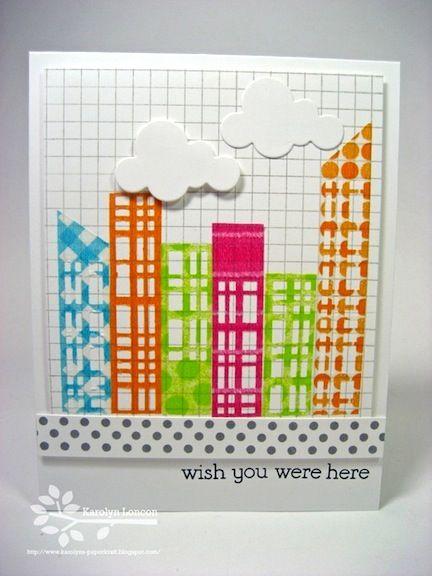 #papercraft #washi #card Great way to use washi to create a scene