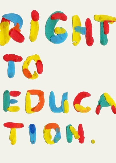 RIGHT TO EDUCATION / poster 4 tomorrow / top10/ posters by gosia stolinska, via Behance