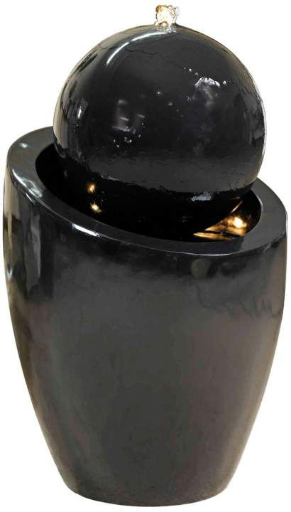 Bola Gloss Black LED Kenroy Home Decorative Fountain See more products... http://www.eurostylelighting.com/ #interior_design #home_decor #modern_lighting #lighting