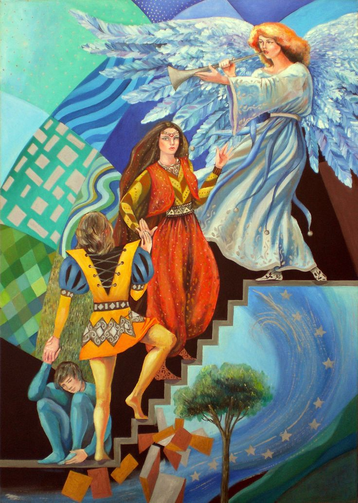 https://flic.kr/p/ehPSWj | the tarot - the judgement 20 | oil painting on panel 50 X 70 cm