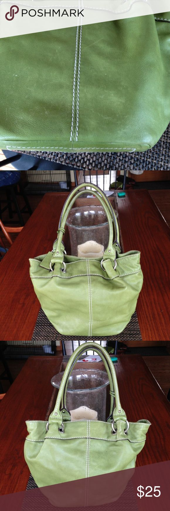 Tignanello Handbag Medium size Tignanello handbag in apple green. Very cute. Well loved but not abused. Tignanello Bags Satchels