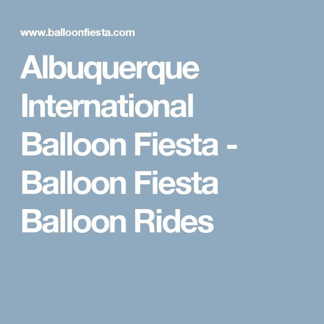 Albuquerque International Balloon Fiesta - Balloon Fiesta Balloon Rides
