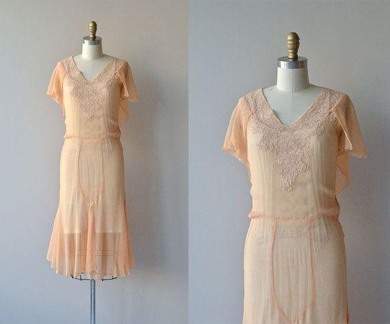 The Gaiety dress   vintage 1920s dress • silk chiffon 20s dress