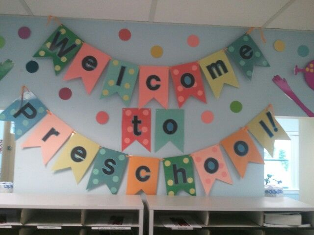 Welcome to preschool sign
