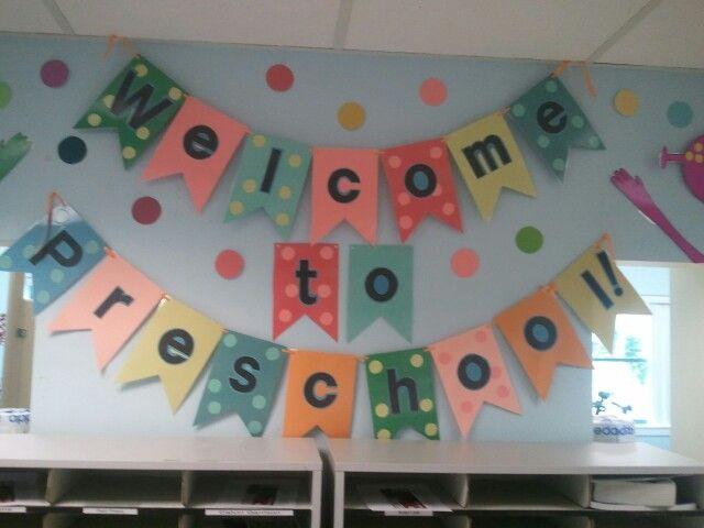 Welcome to preschool sign | Preschool | Pinterest | Signs ...