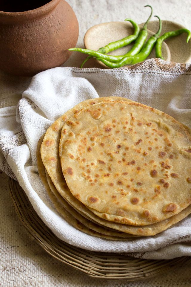 Paneer Paratha -mmm I love paneer! (try adding ghee or butter and salt to the dough though) <3