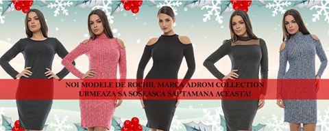 Săptămâna aceasta, stocul Adrom Collection se aprovizionează cu produse noi, specifice sezonului de iarnă <3  Veste din cojoc, colanți vatuiti, rochii din tricot, bumbac, sau cu aplicații, toate la prețuri de producător!     Urmărește pagina noastră de Facebook, sau site-ul: http://www.adromcollection.ro/33-in-curand, deoarece stocul este limitat!