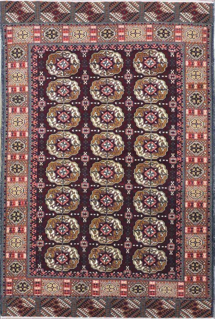 "Carpet Culture - OLD TURKMAN RUG - 3' - 9"" X 5' - 11""  - CC2139"