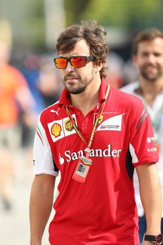 Fernando Alonso (ESP) Ferrari. Formula One World Championship, Rd14, Singapore Grand Prix, Marina Bay Street Circuit, Singapore, Practice, Friday, 19 September 2014