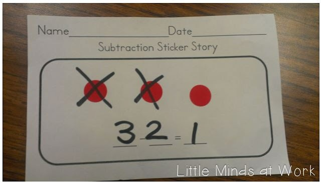 Subtraction Sticker Story FREEBIE
