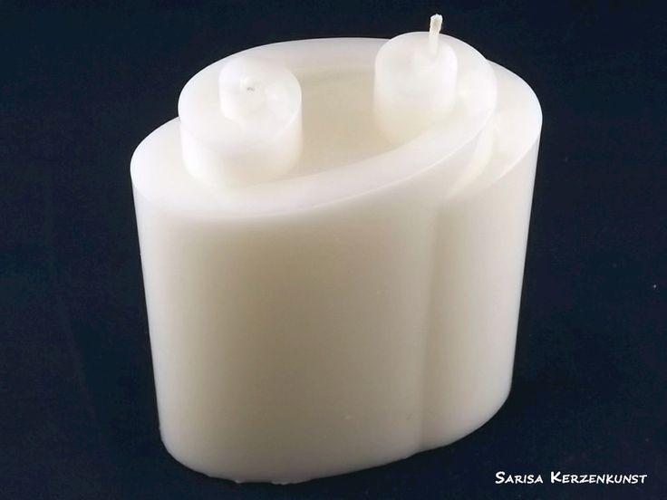 Kerze+Rohling+*Doppelspirale*+von+Sarisa+Kerzenkunst+auf+DaWanda.com