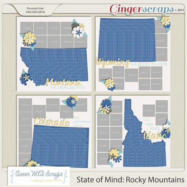 State of Mind: Rocky Mountains by Queen Wild Scraps 40% off through Jan 29th available here: http://bit.ly/QWS_SOMRMgs #templates #queenwildscraps #montana #colorado #idaho #wyoming