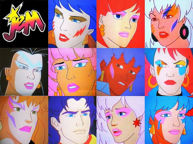 Jem and the Holograms, Misfits, Rio Wallpaper by glossy_mirrorplanet, via Flickr