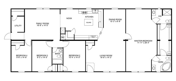 Clayton Homes | Home Floor Plan | Manufactured Homes, Modular Homes, Mobile Homes