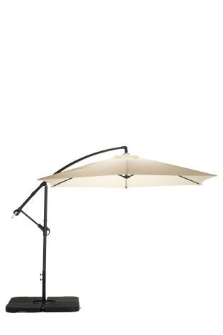 Escape from the sun with this natural cantilever parasol!