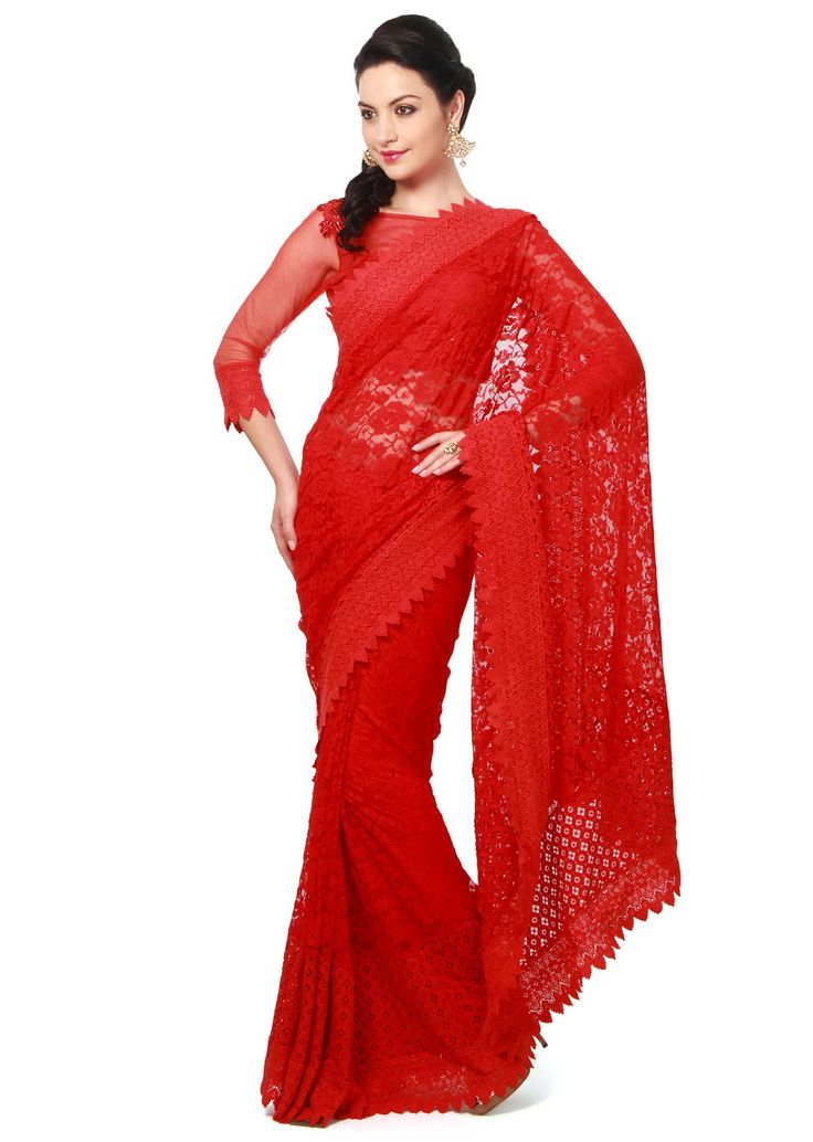 the red sari The red sari gives this vintage silk cloth new meaning, turning it into felted sari scarves it's a stunning combination of design and texture, with colorful merino wool circles felted onto the fabric.