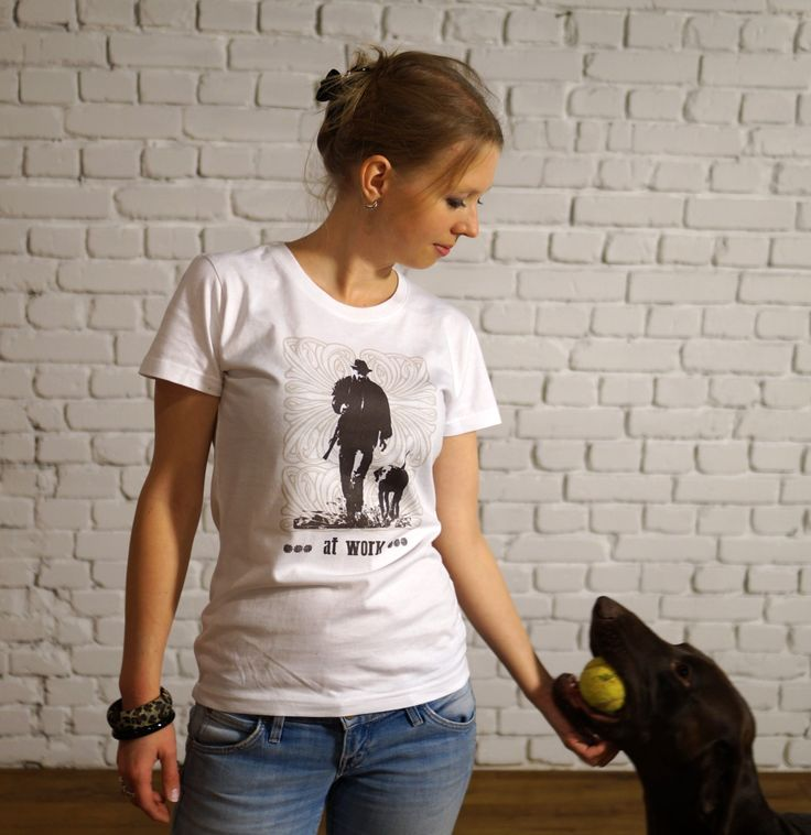 t-shirt with pointer&hunter