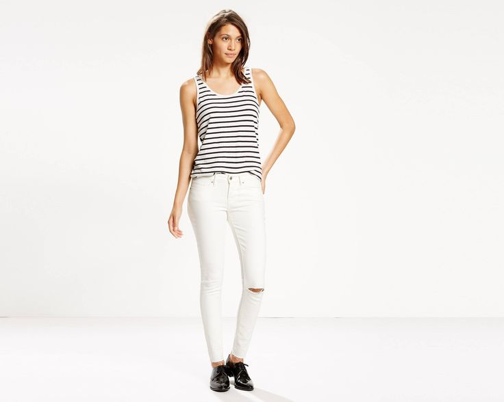 Your ultimate look-amazing styles with innovative stretch denim designed to flatter, hold and lift — all day, every day. Sitting at the waist and featuring a skinny leg, these jeans have a classic silhouette you'll love. This pair is constructed from soft stretch fabric, engineered for comfort.