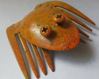 Scrap Metal Frog Sculpture