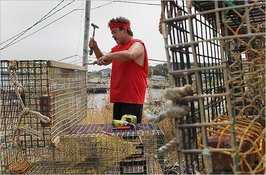 Lobster prices plunge, to fishermen's chagrin. http://www.boston.com/news/local/massachusetts/articles/2012/07/17/lobster_prices_plunge_to_fishermens_chagrin/?p1=Well_Local_Links#