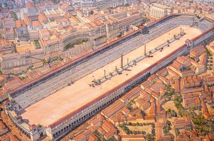 Italy - Roma (Rome) under Constantine - Lower Empire - Circus Maximus (Large Circus)