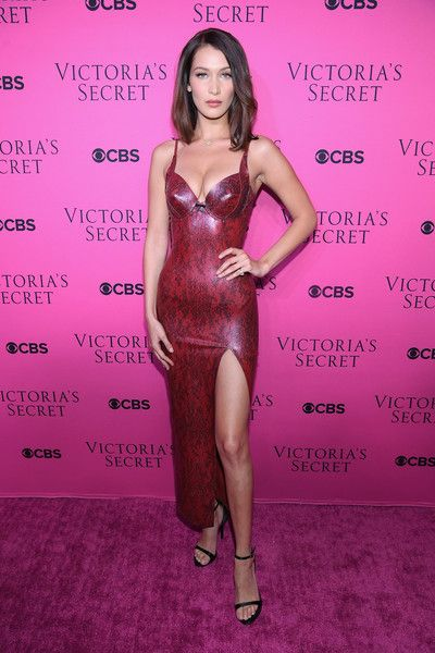 Model Bella Hadid attends as Victoria's Secret Angels gather for an intimate viewing party of the 2017 Victoria's Secret Fashion Show.