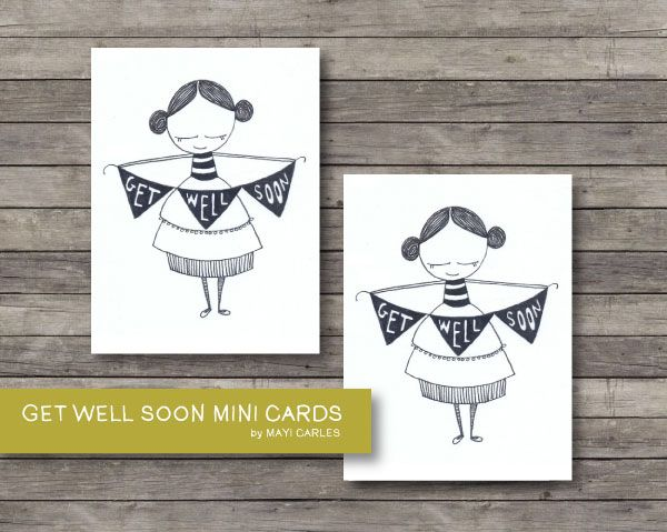 FREE printable Get Well Soon Mini Cards Printable