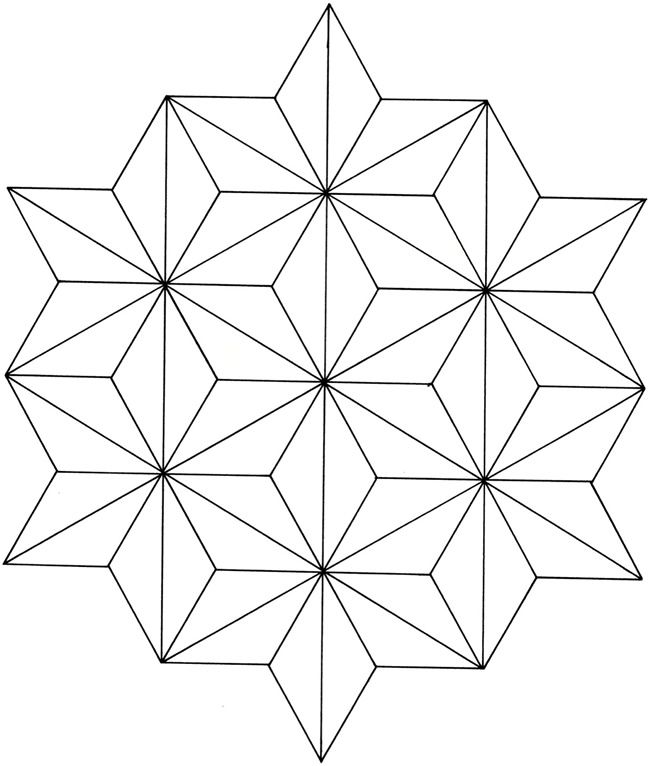 easy geometric design coloring pages - photo#13