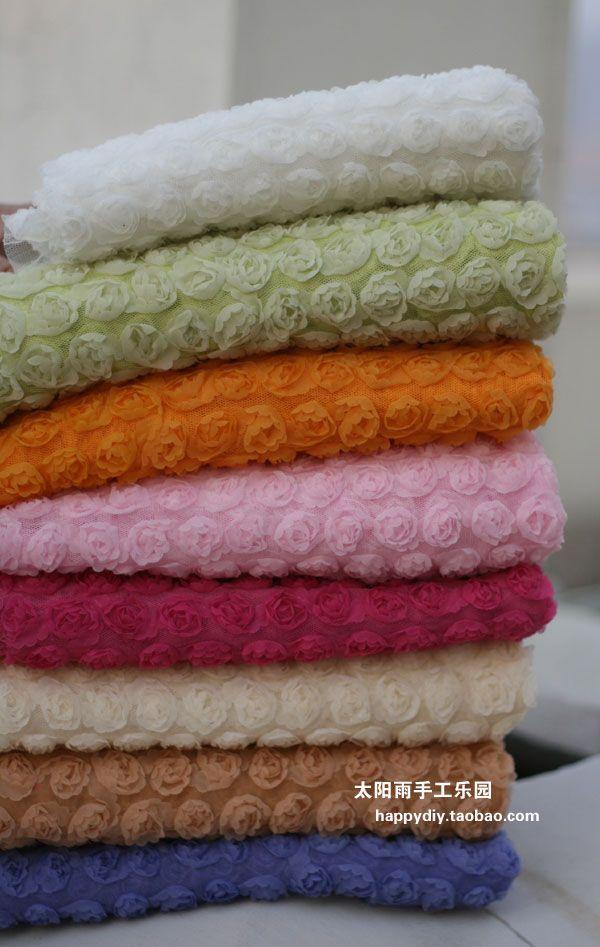 Малый трехмерной вышивки диск Вышивка Роуз (12 вариантов цвета) ткань марля | ширина 1,3 м - Taobao